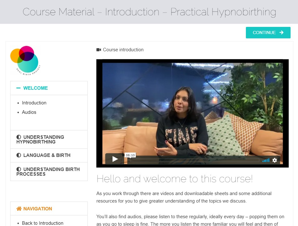 online courses for hypnobirthing video